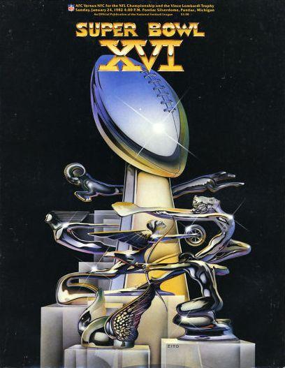 Super Bowl XVI poster