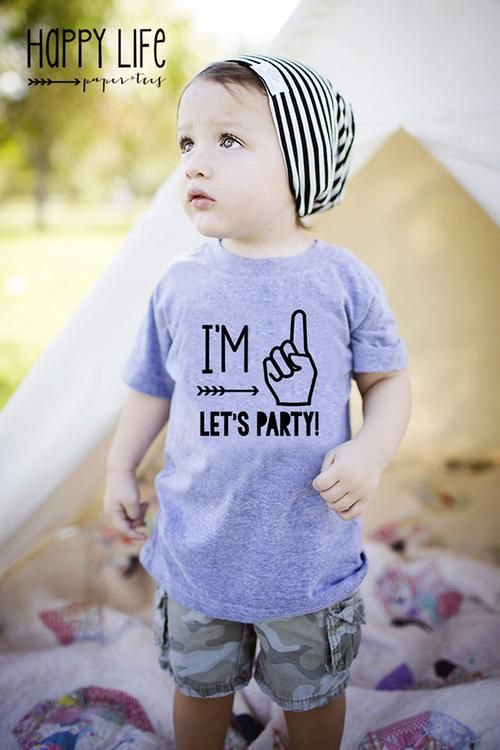 I'M ONE LETS PARTY TEE - Boys Birthday Shirts and First Birthday Shirts!