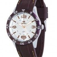 reloj marea hombre con correa de silicona color granate