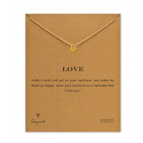 Dogeared Gold Love Locket Necklace at aquaruby.com