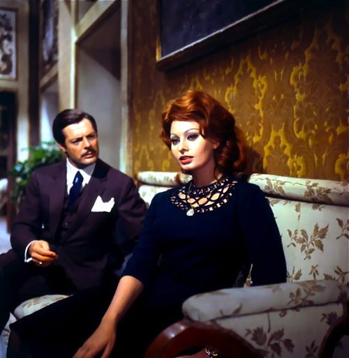 Sophia Loren and Marcello Mastroianni in Marriage Italian Style.