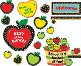 "Checkout the ""Poppin' Patterns Back To School Apples Bulletin Board Set"" product"