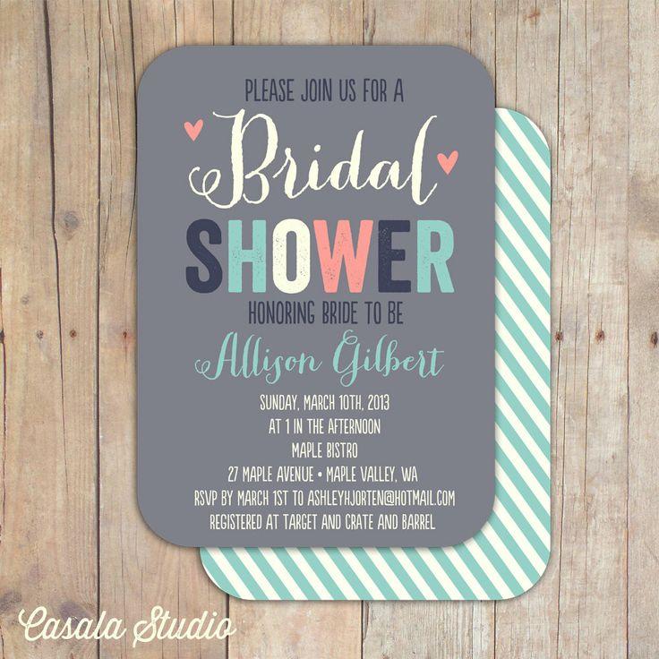 blank beach bridal shower invitations%0A Whimsical Bridal Shower Invitation Baby Shower Invite Printable OR Printed  Card          via Etsy