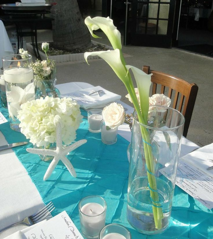 Even For A Non Beach Theme Wedding Can Use The Ideas Of Table Runners