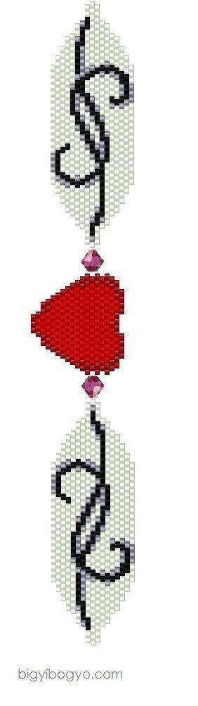 Peyote Heart Bracelet - 1
