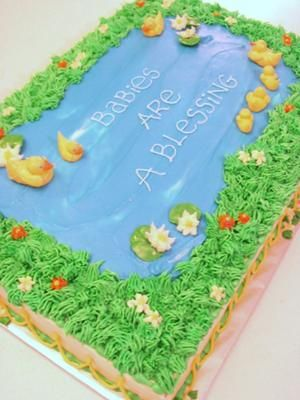 Duck Baby Shower Cakes with Cute Pictures and Instructions