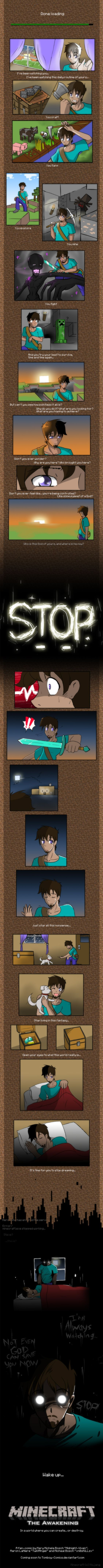 Minecraft Comic of the legend of HEROBRINE: