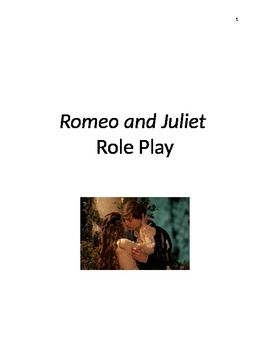 """Includes role play scripts for every act of Romeo and Juliet, by William Shakespeare. I have shortened each scene a little when needed and have """"translated"""" the original text to modern English. I have added character and prop lists and stage directions."""