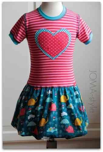 Lillestoff - Happy elephants passende Uni-Jersey: pink dunkel und mint Schnitt: czm - holly