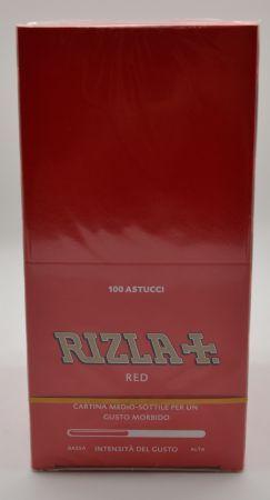 CARTINA RIZLA CORTA ROSSA BOX 100 DA 50 FOGLI