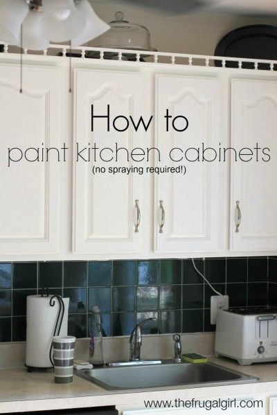 Contemporary How to Paint Kitchen Cabinets The Frugal Girl Fresh - Best of paint brush for cabinets Style