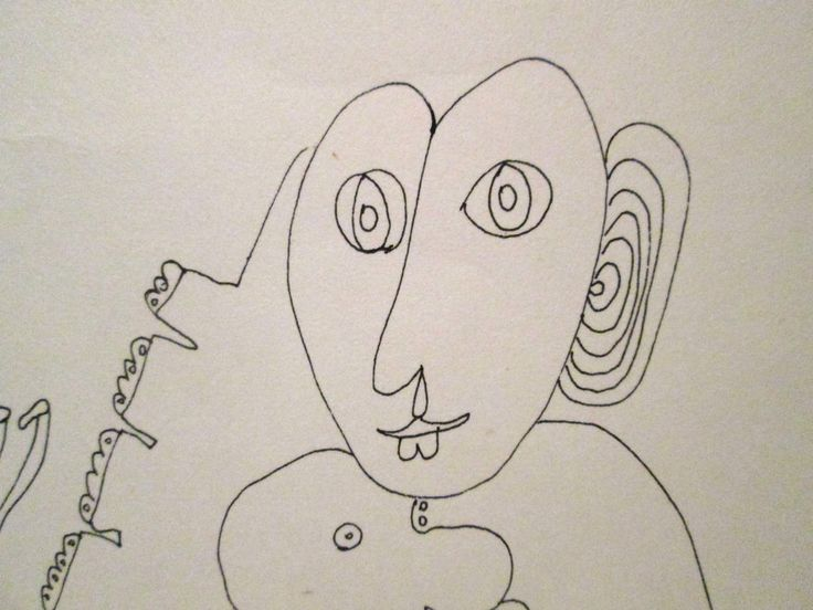 1976 LAURA GEWISGOLD ARGENTINA ORIGINAL INK DRAWING OUTSIDER ABSTRACT MODERNIST #Abstract