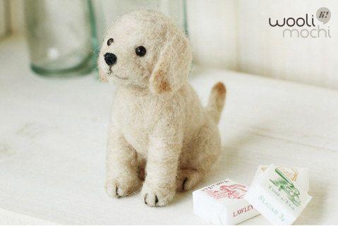 Needle felt kit -  Miniature Labrador Retriever.