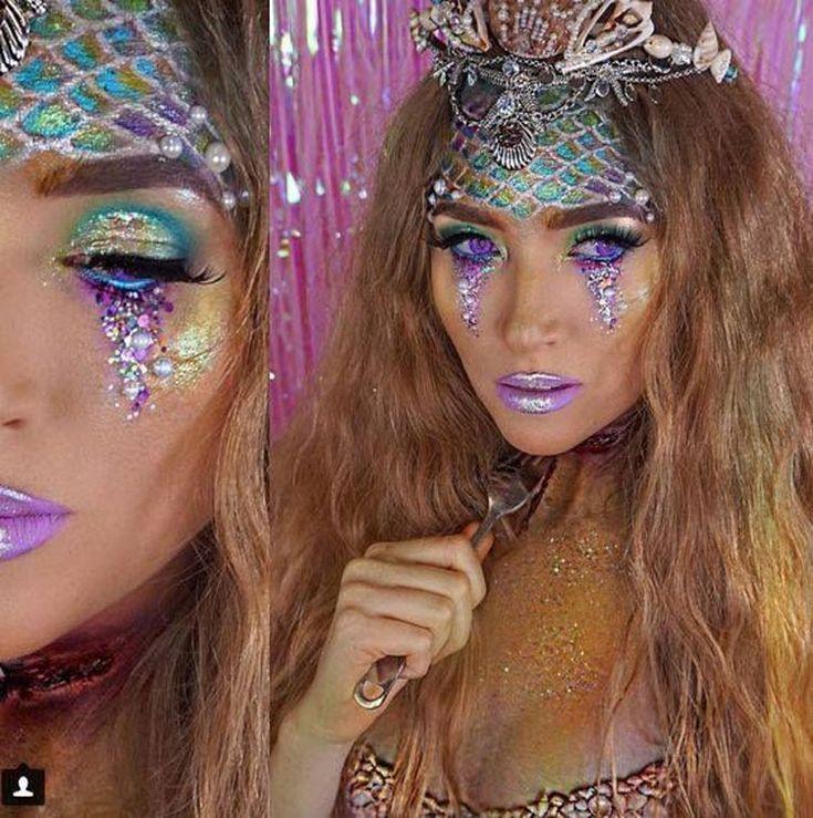 Maquiagem Carnaval 2021 colorida, glitter, simples e