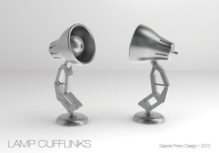 Pixar Lamp Cufflinks by Gabriel Prero at Coroflot.com