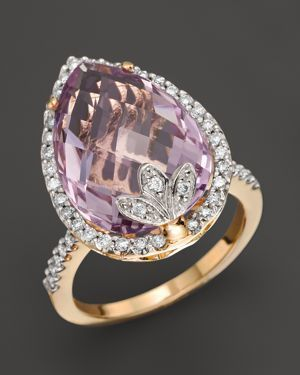 Lavender Amethyst Diamond Ring