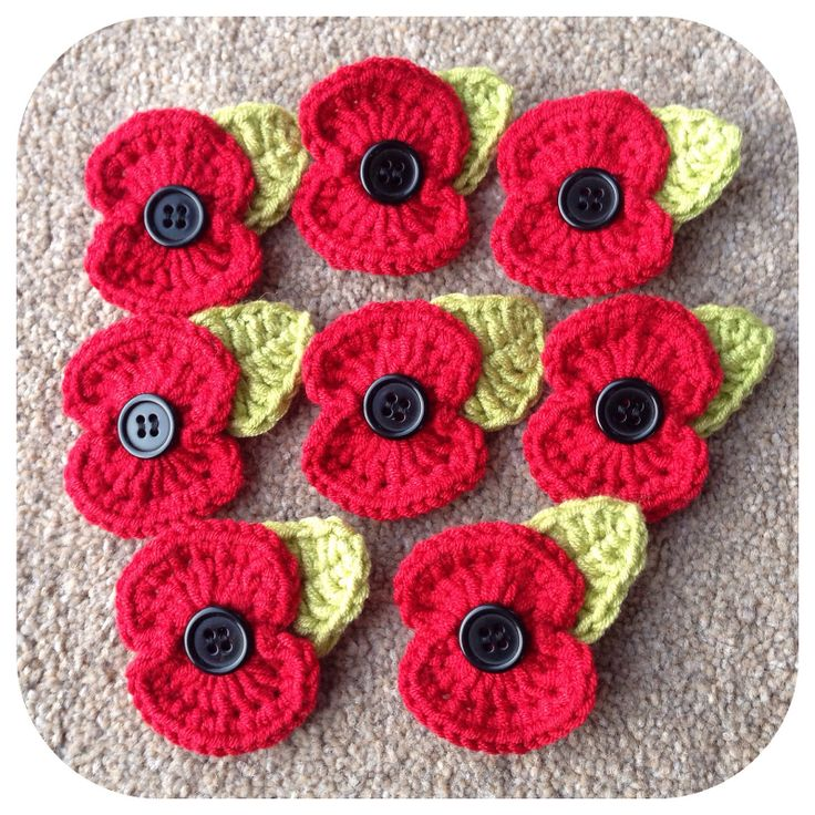 Ravelry: Lkm0's Crochet Remembrance Poppy