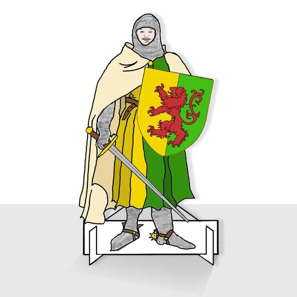 William Marshal 1217 Colouring in Paper Doll Post Card, Unique Greeting Cards Online, Buy Luxury Handmade Cards, Unusual Cute Birthday Cards and Quality Christmas Cards