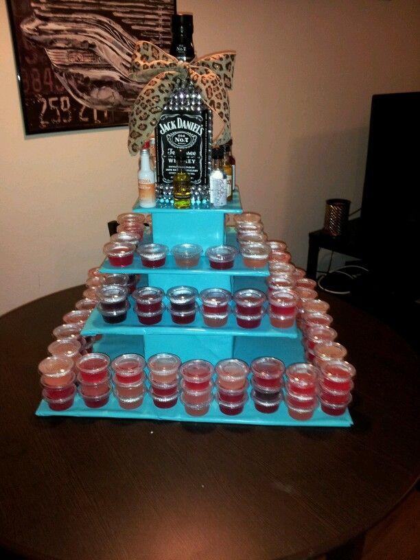 21st birthday jello shot cake