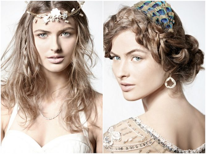 I just love that peakokheadpiece. I wonder where my peacock headband went...Braids Hairstyles, Boho Chic, Wedding Hair, Diy Hair, Unique Wedding, Bridal Hairstyles, Hair Style, Hair Looks, Weddinghair Hairstyles