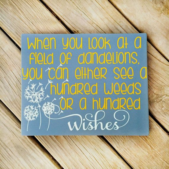 Dandelion Wishes  Inspirational Quote  by WhisperWillowDesigns