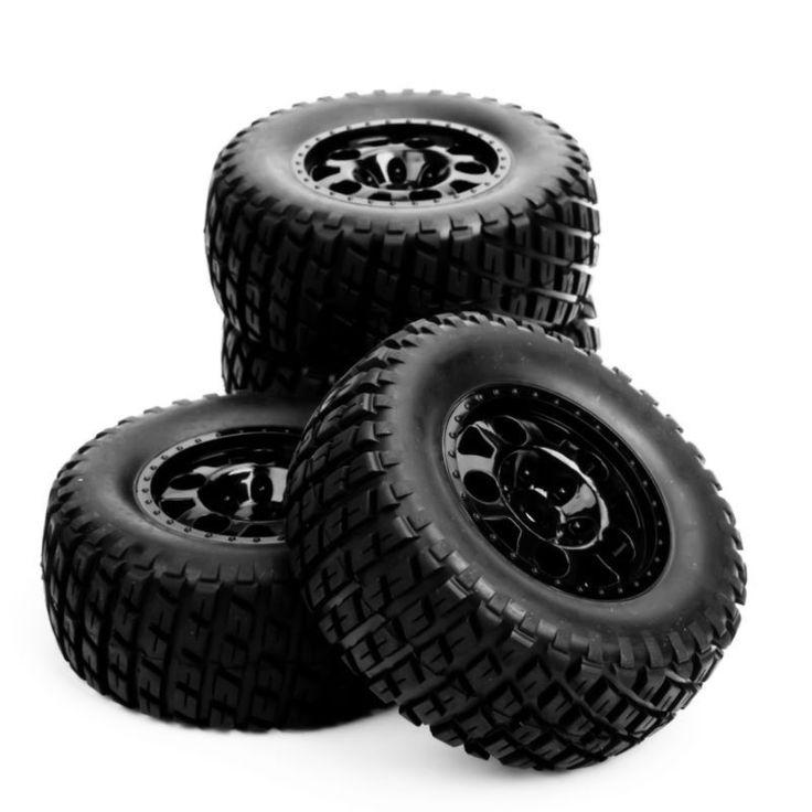 RC 1:10 Short Course Truck Tires Set Tyre Wheel Hub 4 pcs/Set For Traxxas Slash HPI Car Parts & Accssory #Affiliate