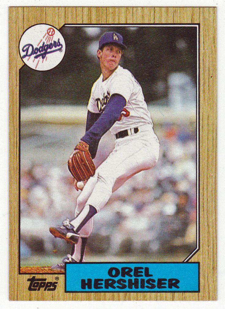 Orel Hershiser # 385 - 1987 Topps Baseball