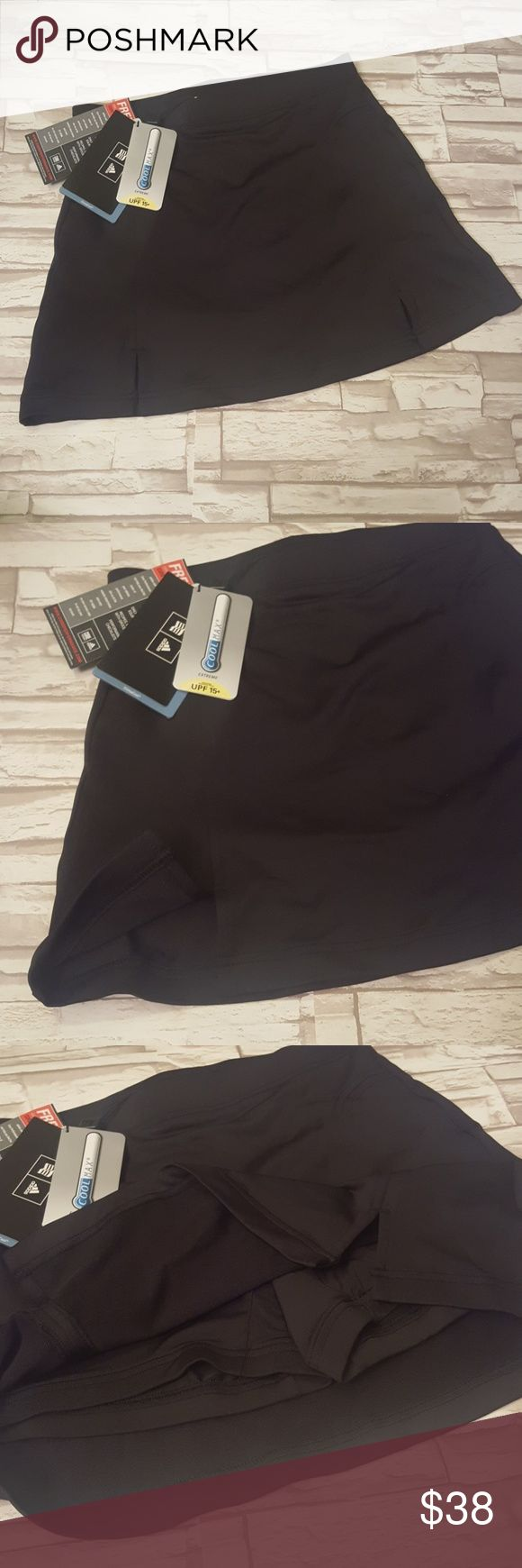 """NWT New Adidas climacool golf skort - size 2 New with tags! Adidas climacool coolmax skort in black.  Size 2.  Shorts under skirt.  Skirt length is 14"""".  95% polyester 5% spandex.  Purchased at Golf Galaxy for $69.99 and then never wore. adidas Skirts"""