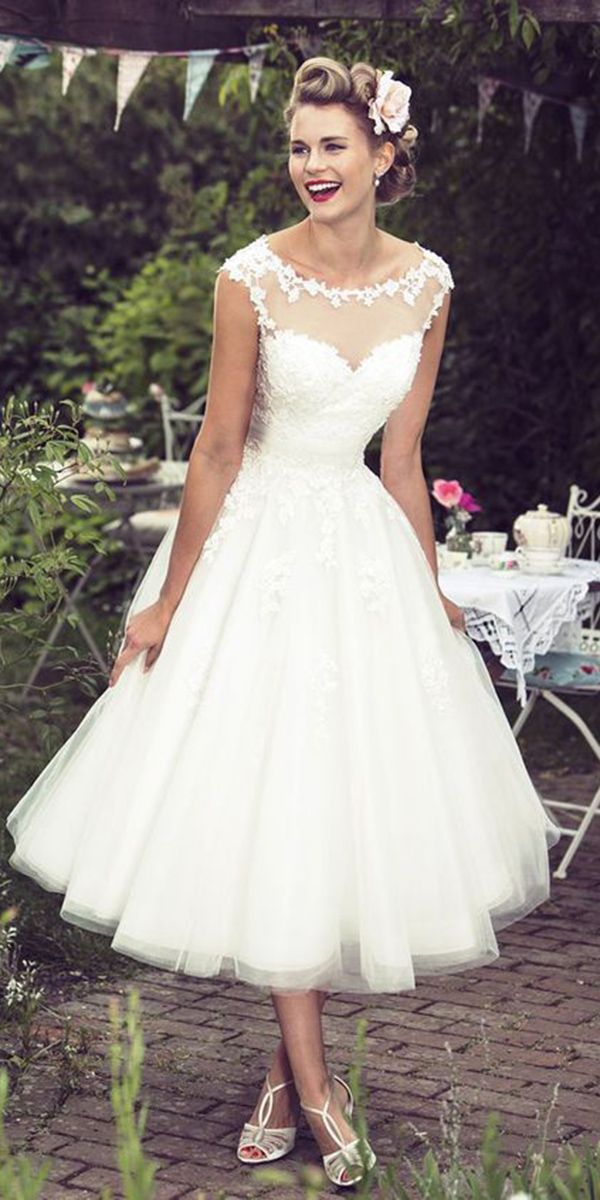 Incredible Tea Length Wedding Dresses ★ See more: https://weddingdressesguide.com/tea-length-wedding-dresses/ #bridalgown #weddingdress