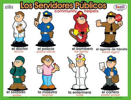 15 ocupaciones en inglés y español - Imagui