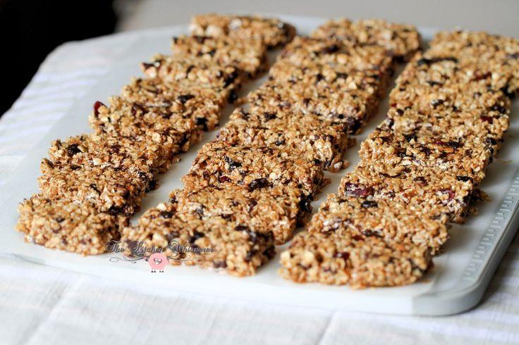 Skinny Peanut Butter Protein Granola Bars | Recipe ...