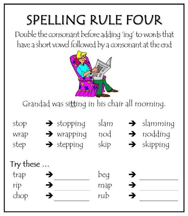 Spelling Rule 4                                                                                                                                                      More