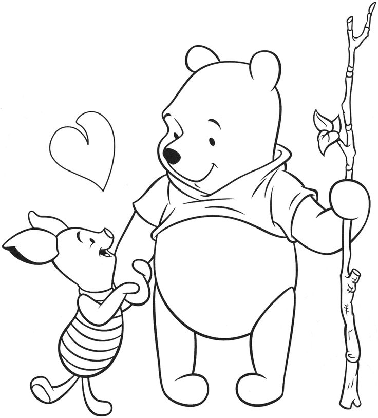 Winnie the Pooh as a Baby Coloring