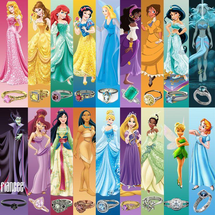 Disney Princess Rings<--love these!