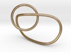 Interlocking ring in Polished Gold Steel