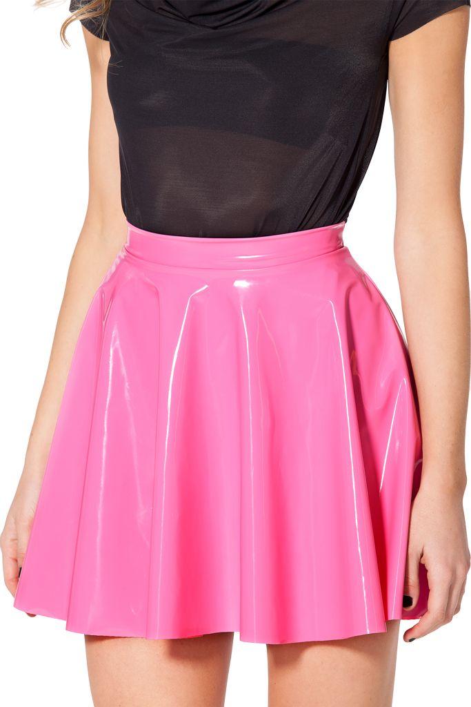 PVC pink skater skirt (XL)