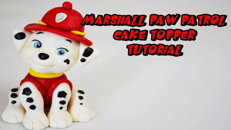 MARSHALL PAW PATROL CAKE TOPPER FONDANT TUTORIAL