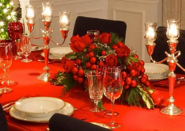 Best christmas tablescapes images on pinterest
