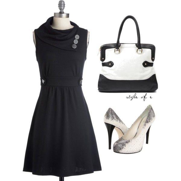 """""""Black Dress"""" by styleofe on Polyvore"""