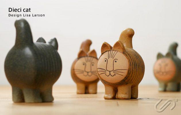 Lisa Larson (リサ・ラーソン) / Dieci cat