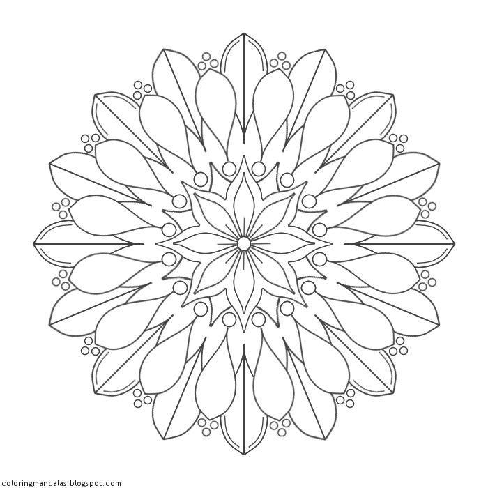Coloring Mandalas: 12 Lifebloom