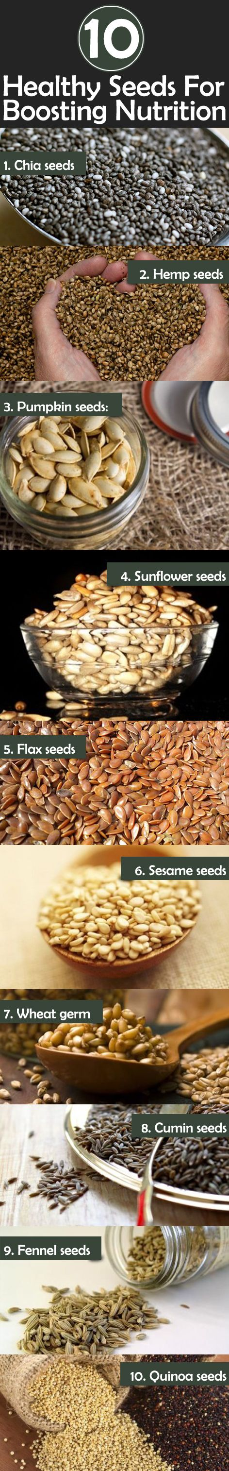 Top 10 Healthy Seeds For Boosting Nutrition