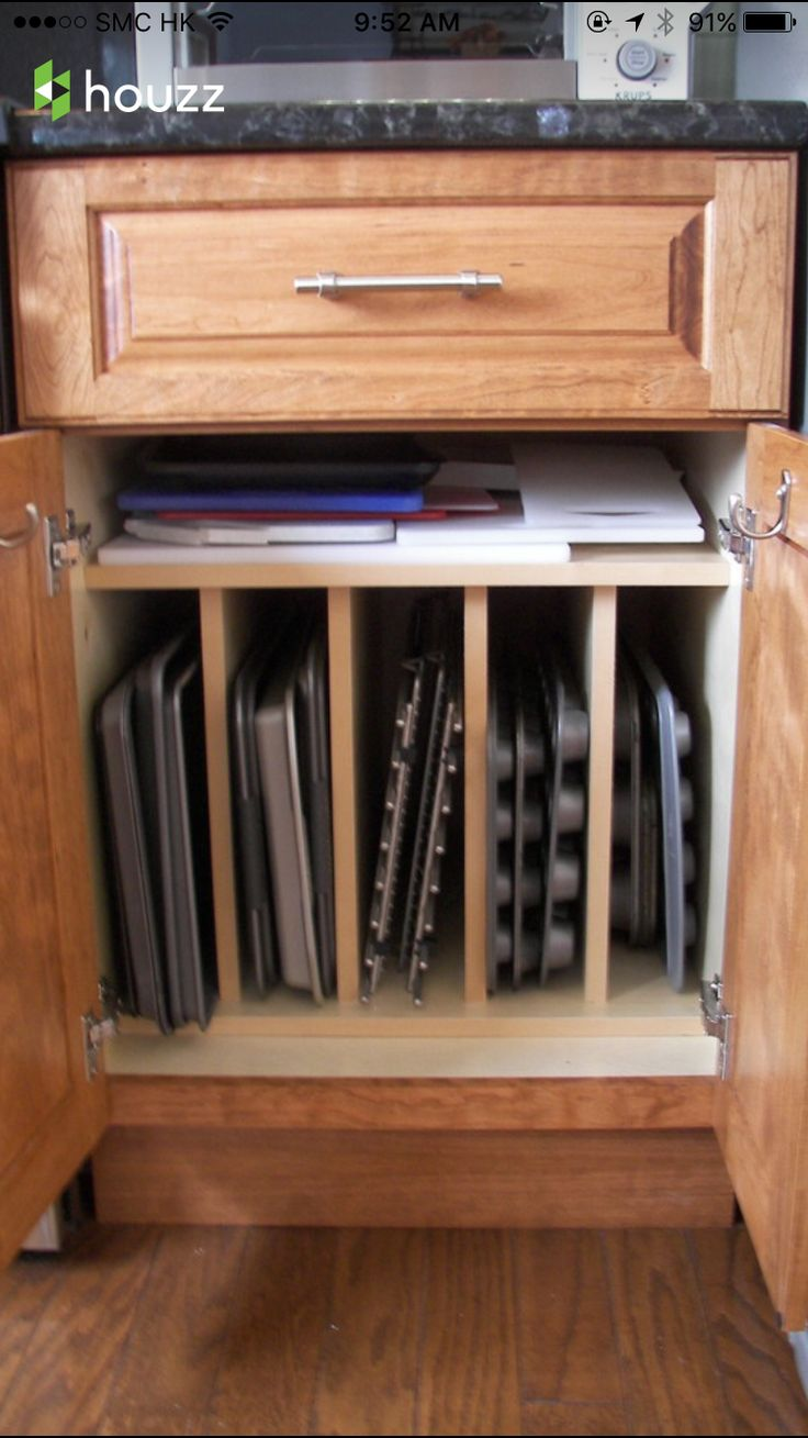 best 20 dish storage ideas on pinterest kitchen drawer dividers cookie sheet storage design ideas pictures remodel and decor page 5