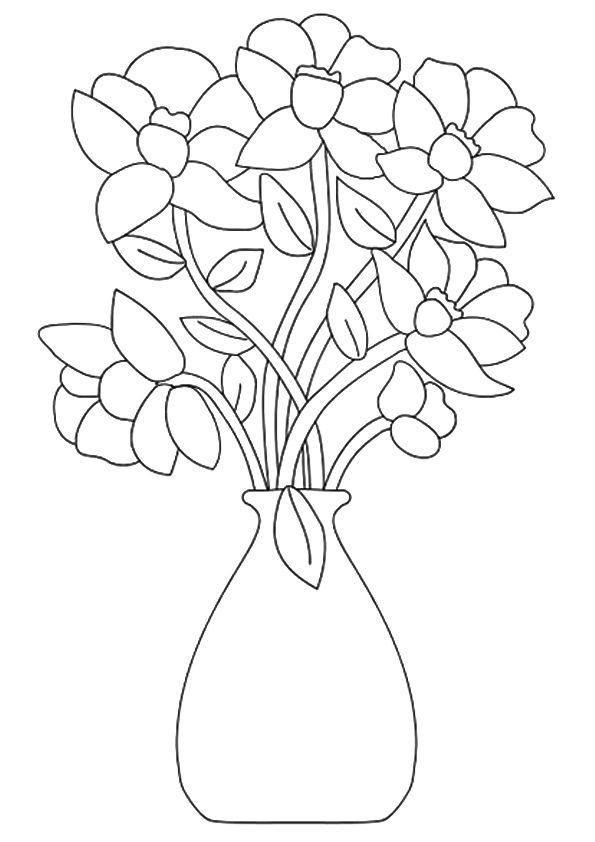 12 besten Ausmalbilder Blumen Bilder auf Pinterest