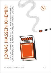 http://www.adlibris.com/se/product.aspx?isbn=9186847074   Titel: Så som du hade berättat det för mig (ungefär) om vi hade lärt känna varandr - Författare: Jonas Hassen Khemiri - ISBN: 9186847074 - Pris: 29 kr