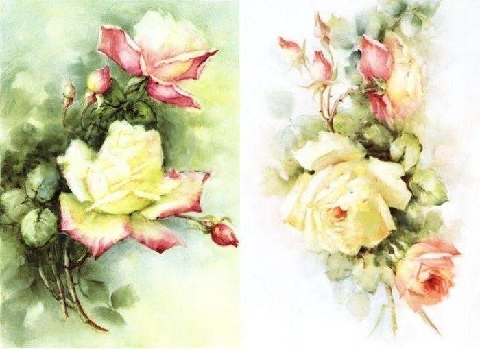 Картинки винтажные розы для декупажа
