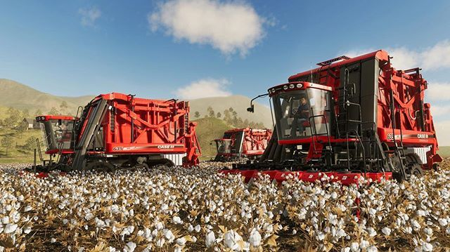 The CASE IH cotton harvester coming to FS19! #fs19 | Farming
