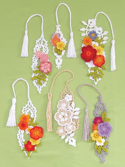 New Crochet Patterns - Irish Flower Bookmarks