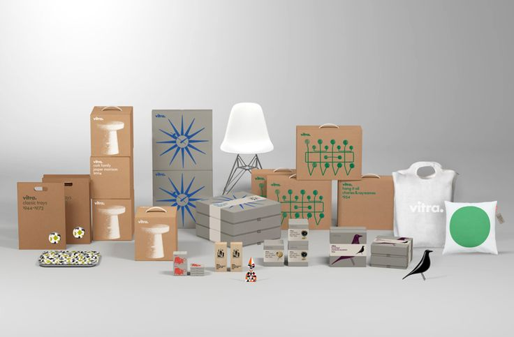 Package design for Vitra by Swedish design studio BVD