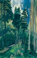 Forest Landscape No. 1, oil on paper (1939) by Emily Carr